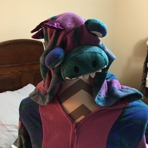 Purple and Blue Adult full body dragon costume
